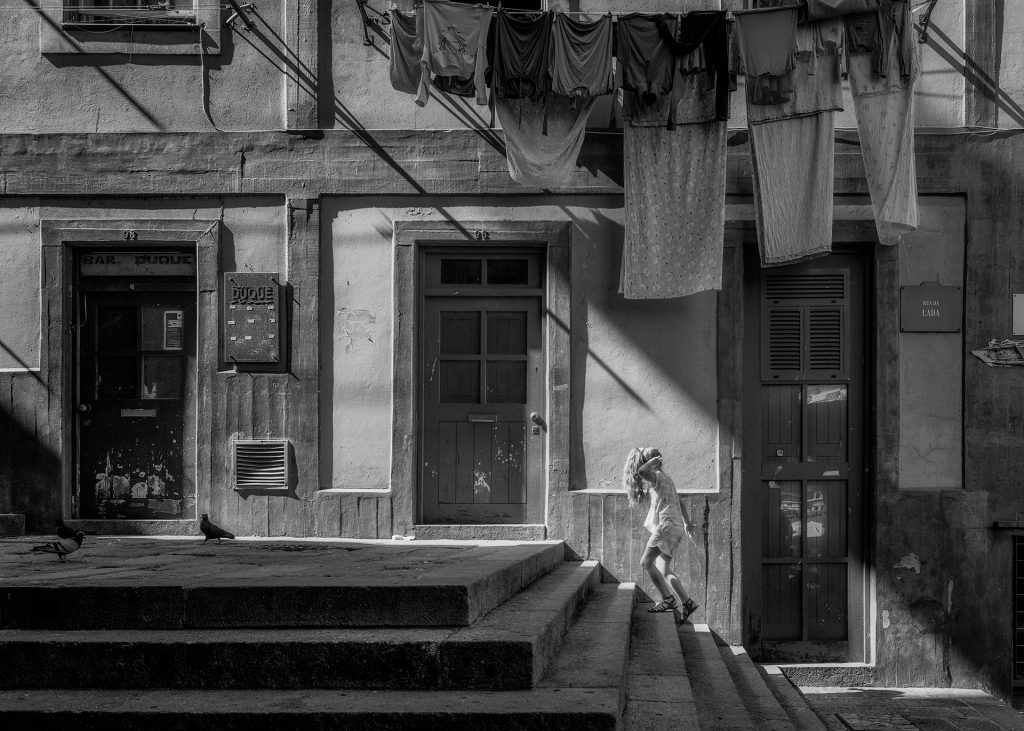 Roupa a secar no Porto